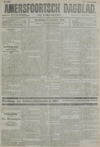 Amersfoortsch Dagblad / De Eemlander 1916-12-07