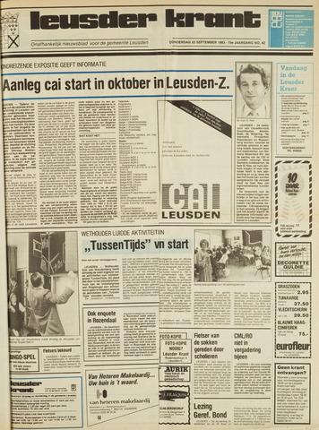 Leusder Krant 1983-09-22