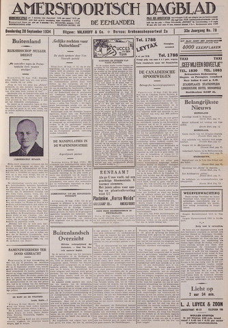 Amersfoortsch Dagblad / De Eemlander 1934-09-20