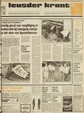 Leusder Krant 1985-10-03