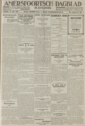Amersfoortsch Dagblad / De Eemlander 1931-06-15