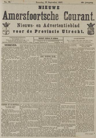 Nieuwe Amersfoortsche Courant 1917-09-22