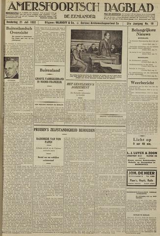 Amersfoortsch Dagblad / De Eemlander 1932-07-21