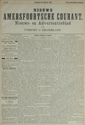 Nieuwe Amersfoortsche Courant 1892-02-20
