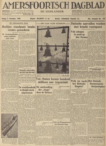 Amersfoortsch Dagblad / De Eemlander 1940-12-06