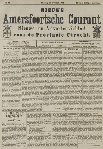 Nieuwe Amersfoortsche Courant 1908-10-31