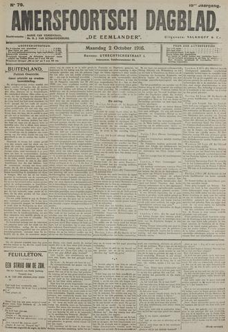 Amersfoortsch Dagblad / De Eemlander 1916-10-02