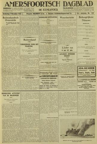 Amersfoortsch Dagblad / De Eemlander 1932-11-17