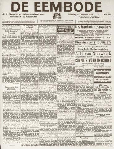 De Eembode 1926-10-05