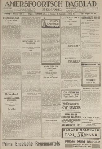 Amersfoortsch Dagblad / De Eemlander 1931-10-17