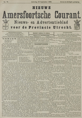Nieuwe Amersfoortsche Courant 1908-09-19
