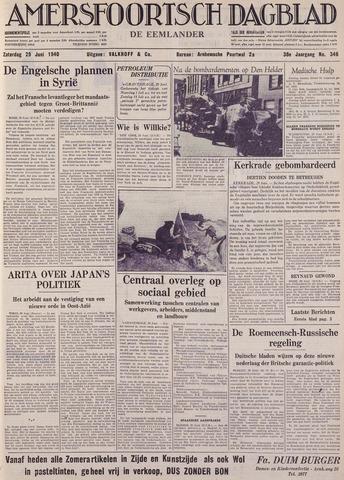 Amersfoortsch Dagblad / De Eemlander 1940-06-29