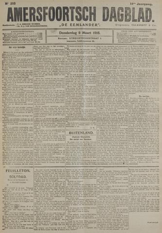 Amersfoortsch Dagblad / De Eemlander 1916-03-09