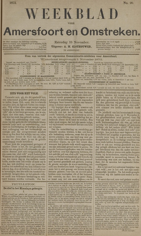 Weekblad voor Amersfoort en Omstreken 1873-11-15