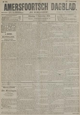 Amersfoortsch Dagblad / De Eemlander 1916-11-07