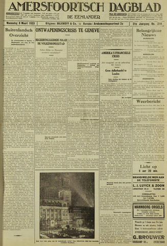 Amersfoortsch Dagblad / De Eemlander 1933-03-08