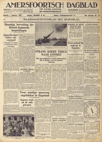 Amersfoortsch Dagblad / De Eemlander 1939-08-07