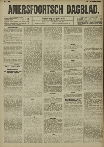 Amersfoortsch Dagblad 1910-07-27