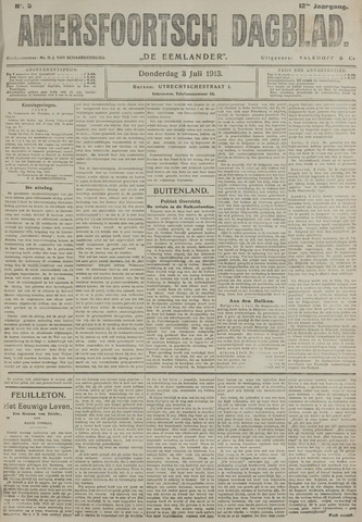 Amersfoortsch Dagblad / De Eemlander 1913-07-03