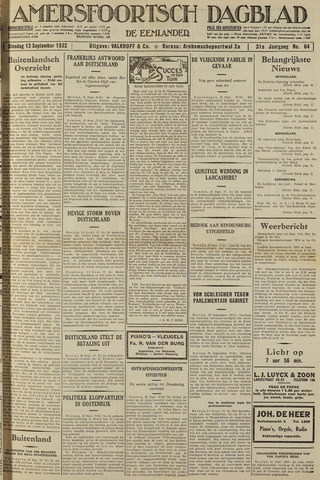 Amersfoortsch Dagblad / De Eemlander 1932-09-13