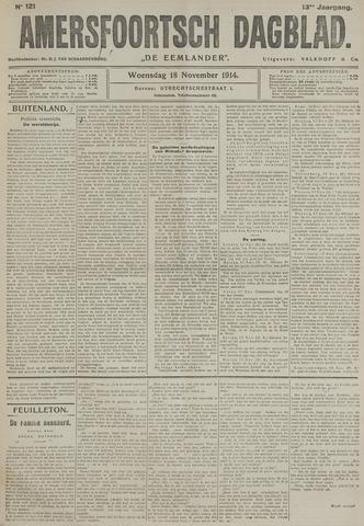 Amersfoortsch Dagblad / De Eemlander 1914-11-18
