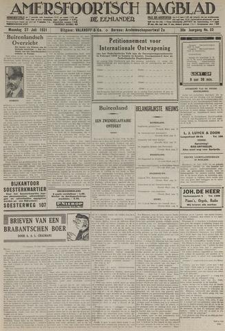 Amersfoortsch Dagblad / De Eemlander 1931-07-27