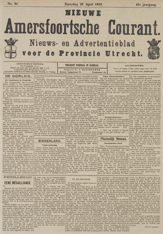 Nieuwe Amersfoortsche Courant 1918-04-27