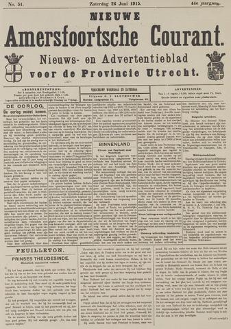 Nieuwe Amersfoortsche Courant 1915-06-26