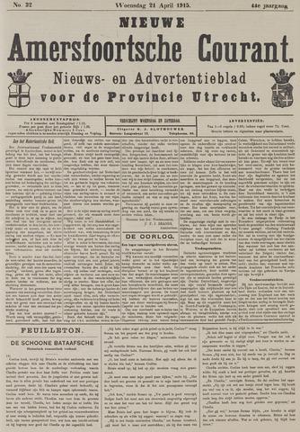 Nieuwe Amersfoortsche Courant 1915-04-21