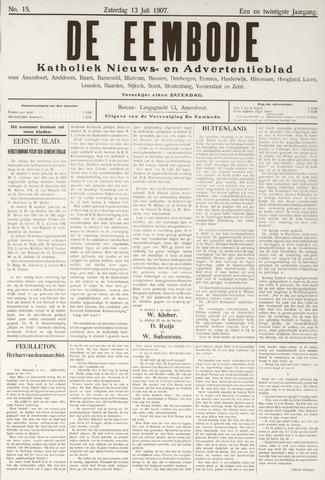 De Eembode 1907-07-13