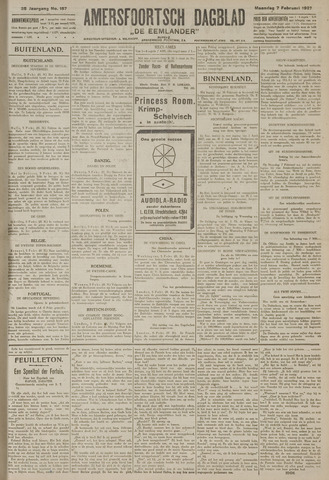 Amersfoortsch Dagblad / De Eemlander 1927-02-07