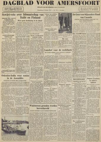 Dagblad voor Amersfoort 1947-10-02