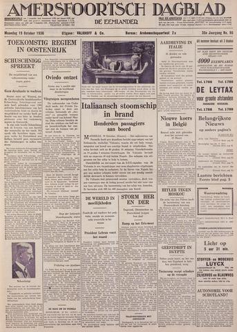 Amersfoortsch Dagblad / De Eemlander 1936-10-19