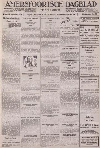 Amersfoortsch Dagblad / De Eemlander 1934-09-28
