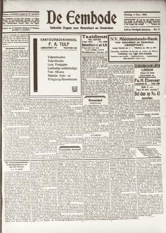 De Eembode 1934-12-04