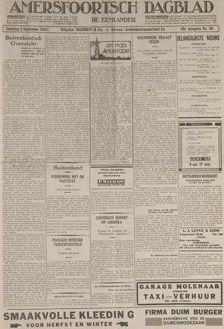 Amersfoortsch Dagblad / De Eemlander 1931-09-05
