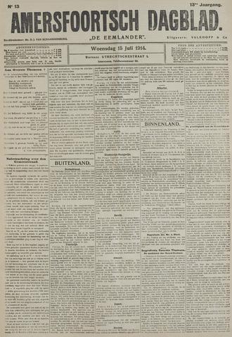 Amersfoortsch Dagblad / De Eemlander 1914-07-15