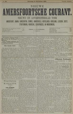 Nieuwe Amersfoortsche Courant 1883-11-24