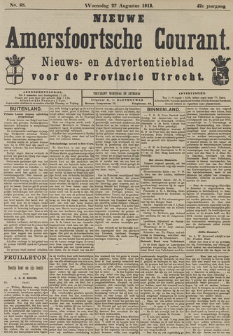 Nieuwe Amersfoortsche Courant 1913-08-27