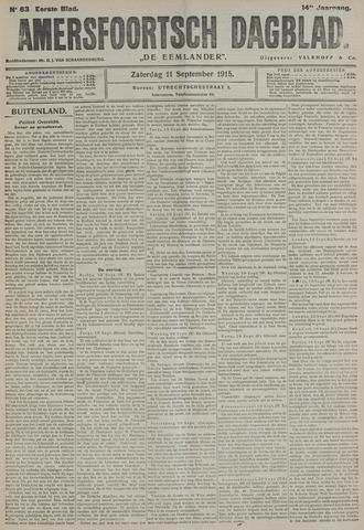 Amersfoortsch Dagblad / De Eemlander 1915-09-11