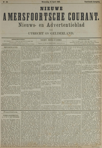 Nieuwe Amersfoortsche Courant 1885-04-15
