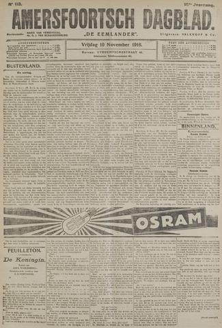 Amersfoortsch Dagblad / De Eemlander 1916-11-10