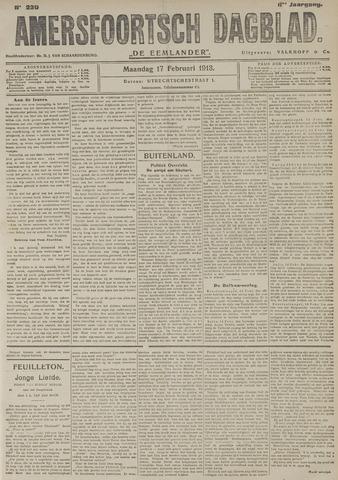 Amersfoortsch Dagblad / De Eemlander 1913-02-17