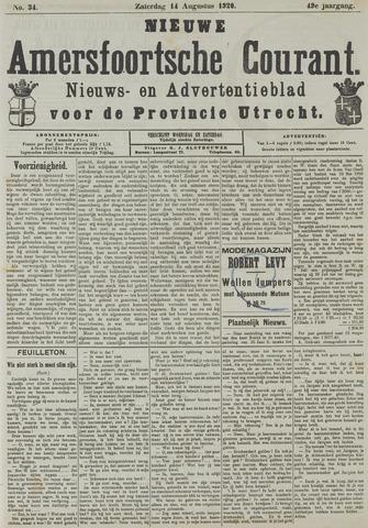 Nieuwe Amersfoortsche Courant 1920-08-14