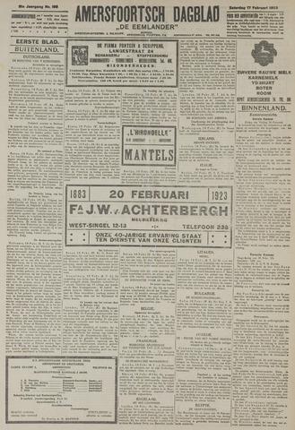 Amersfoortsch Dagblad / De Eemlander 1923-02-17