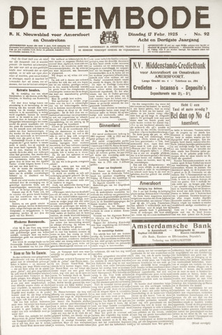 De Eembode 1925-02-17