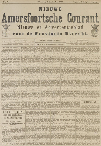 Nieuwe Amersfoortsche Courant 1900-09-05
