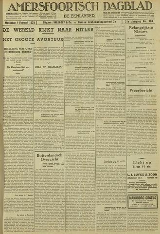 Amersfoortsch Dagblad / De Eemlander 1933-02-01