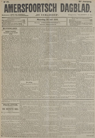 Amersfoortsch Dagblad / De Eemlander 1916-07-24