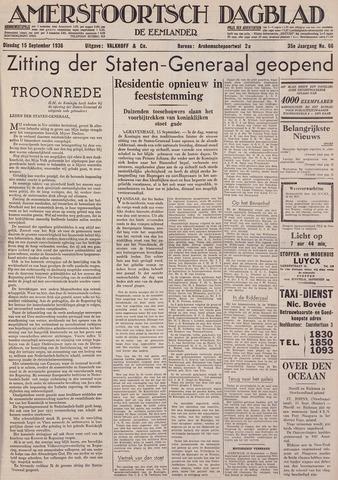 Amersfoortsch Dagblad / De Eemlander 1936-09-15